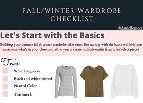 Fall/Winter Wardrobe {FREE CHECKLIST}