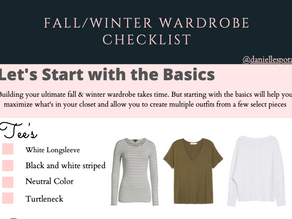 Fall/Winter Wardrobe {FREE CHECKLIST}