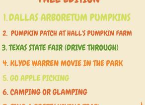 Dallas Bucket List: FALL EDITION