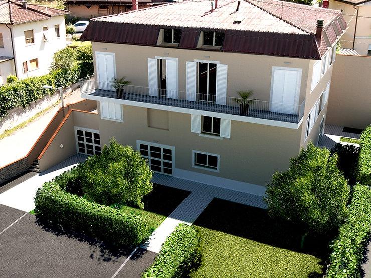 villa Benedetta Barga Lucca rendering.jp