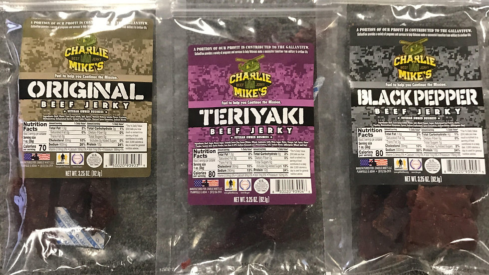 15 packages of beef jerky
