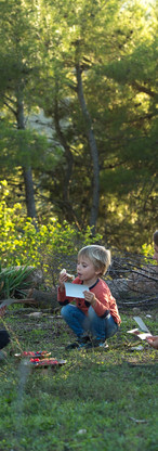 With natural materials, design forest characters and creatures and build a home for them.