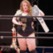 Toni Storm SWA title belt sunglasses