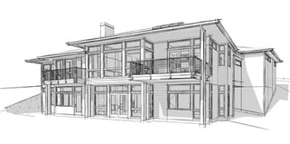 Weber Residence - Southwest Corner Persp