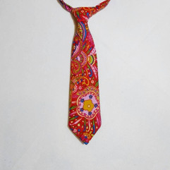 Red multi-coloured paisley