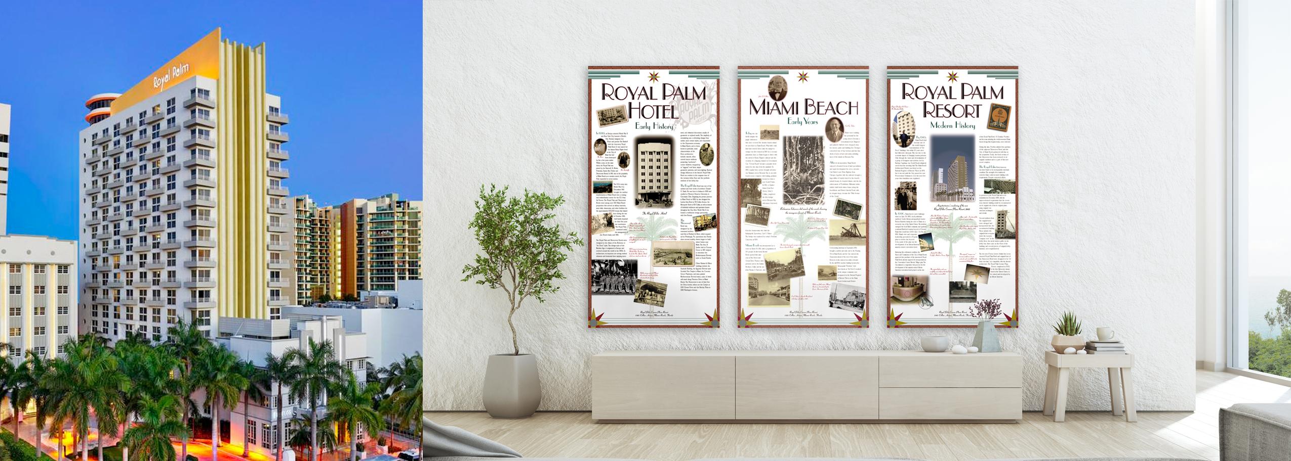 Royal Palm Lobby Installation