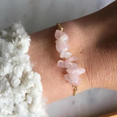 Mina Rose Quartz Adjustable Bracelet