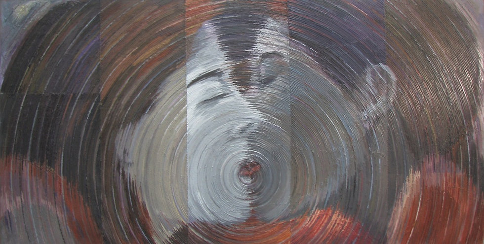 Chu Okoli, Dialogue,Oil on canvas, 60x120in