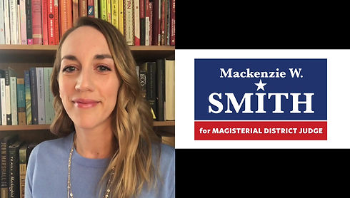 Mackenzie Smith explains how magisterial district judges serve our community and her platform as a candidate in District 15-2-01.