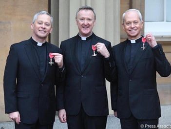 The Priests receive their MBE's
