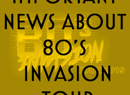 80s Invasion Tour