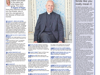 Father Eugene speaks to The Irish News about health and fitness.