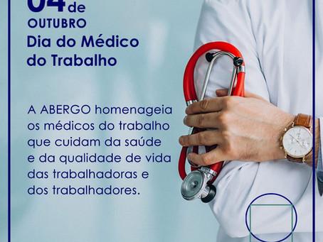 Parabéns aos Médicos e Médicas do Trabalho pelo seu dia: 04/10.