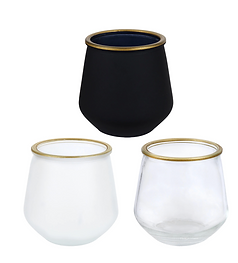 Bulk Frosted Votive Candle Holder with G