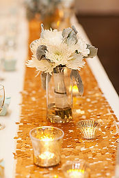 gold sequin table runnr