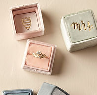 blush velvet ring box