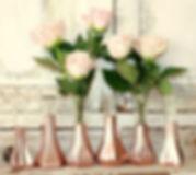 rose gold bud vases