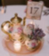 vintage teapots an teacups