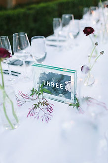 glass block table numbers