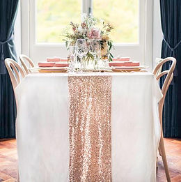 Rose Gold Sequin Table Runne