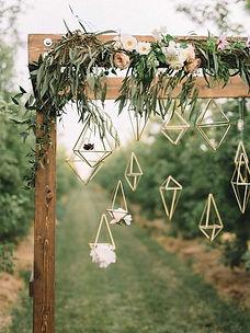 hanging geometric shapes
