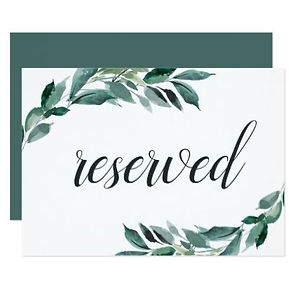 watercolor leaf reserved signs
