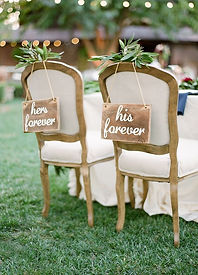 hers forever his forever wood chair sign