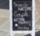 framed chalkboard easel