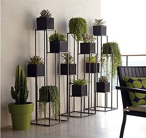 black plant stands