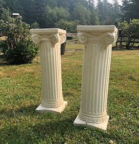 plaster roman columns