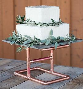 copper cake stand