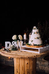white crate cake stand