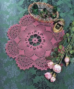 pink doily