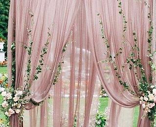 dusty rose drapery panels
