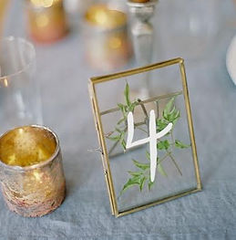 gold press table numbers