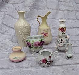 vintage porcelain bud vases