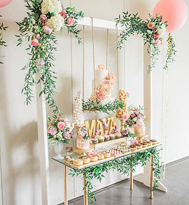 hanging dessert display