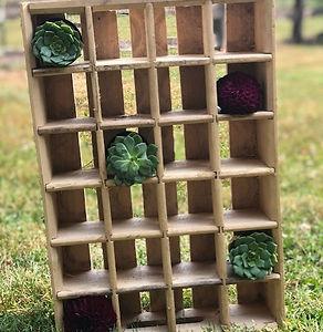 small crate shelf