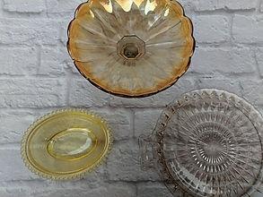 vintage platters/plates/stands