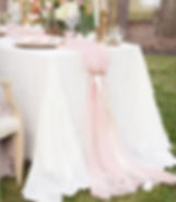 blush table runner