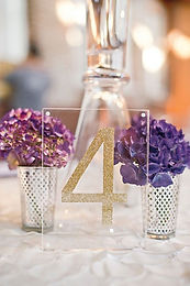 gold acrylic table numbers