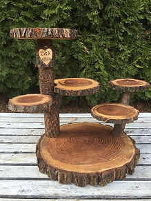 wood tier stand