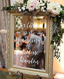 framed mirror sign