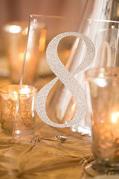 silver acrylic table numbers