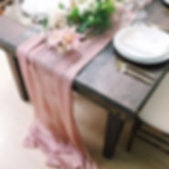 mauve table runner