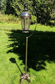 vintage lantern stand