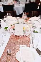 blush sequin table runner