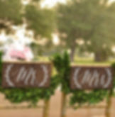 mr and mrs wood chair sign