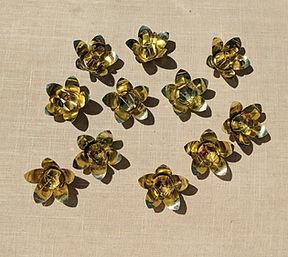 vintage gold metal rosettes
