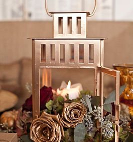 rose gold open lanter